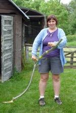 JoVE & her new scythe