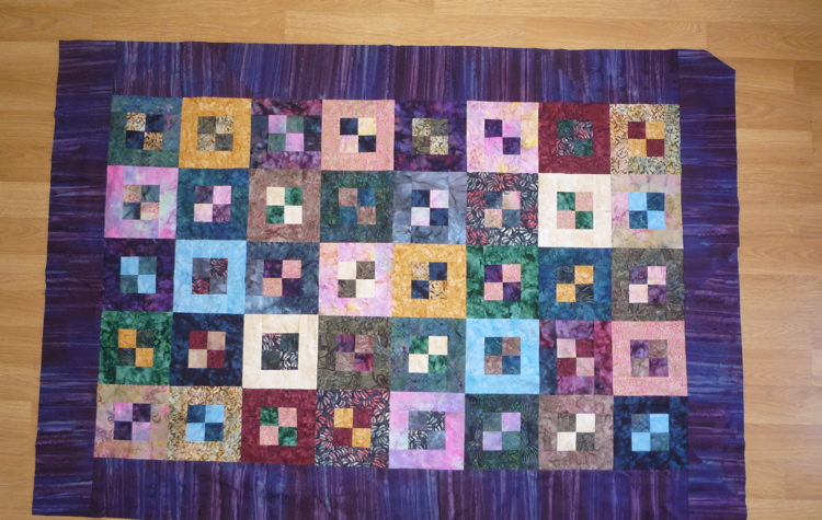 Pandora's Box quilt-top with borders
